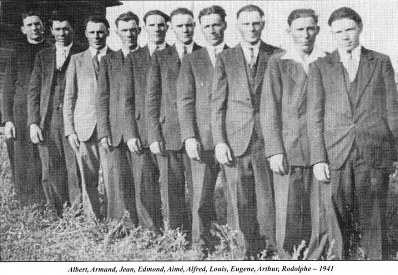 Les 10 fils de Laurent Blanchette et de Marie Anna Rheault , établis en Saskatchewan